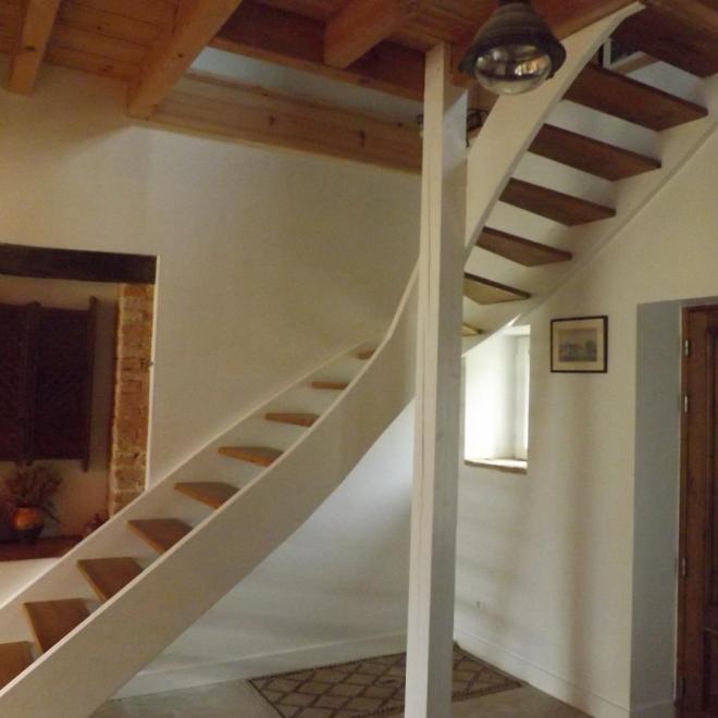 Escalier en pin