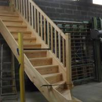 Fabrication d'un escalier en atelier