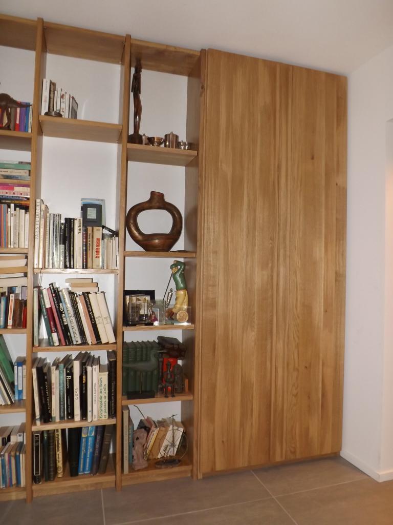Bibliothèque en chêne massif
