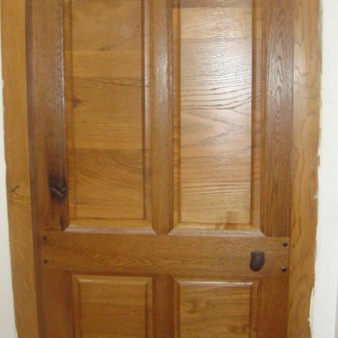 porte cochonière 4 panneaux en vieux chêne