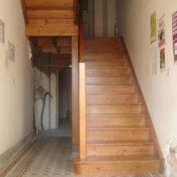 escalier en pin de la mairie de LABATUT Absolu Bois