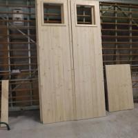 Fabrication porte de garage en 3 plis épicéa