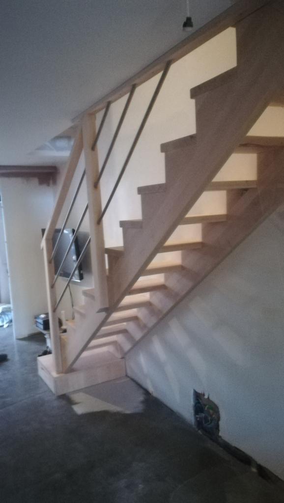 Escalier droit en hêtre Absolu bois