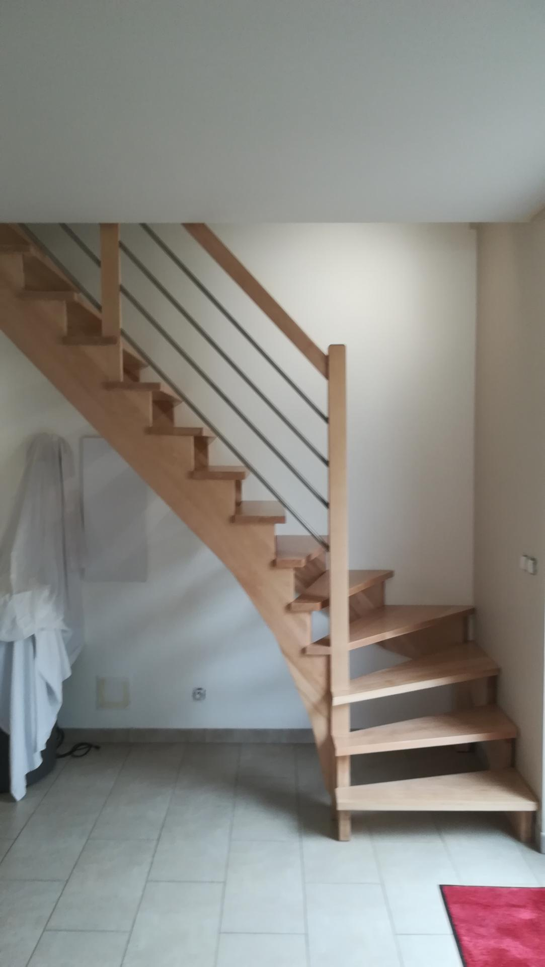 Escalier quart tournant en hêtre Absolu Bois