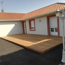 Terrasse IPE sur Puyoo par ABSOLU BOIS MENUISERIE
