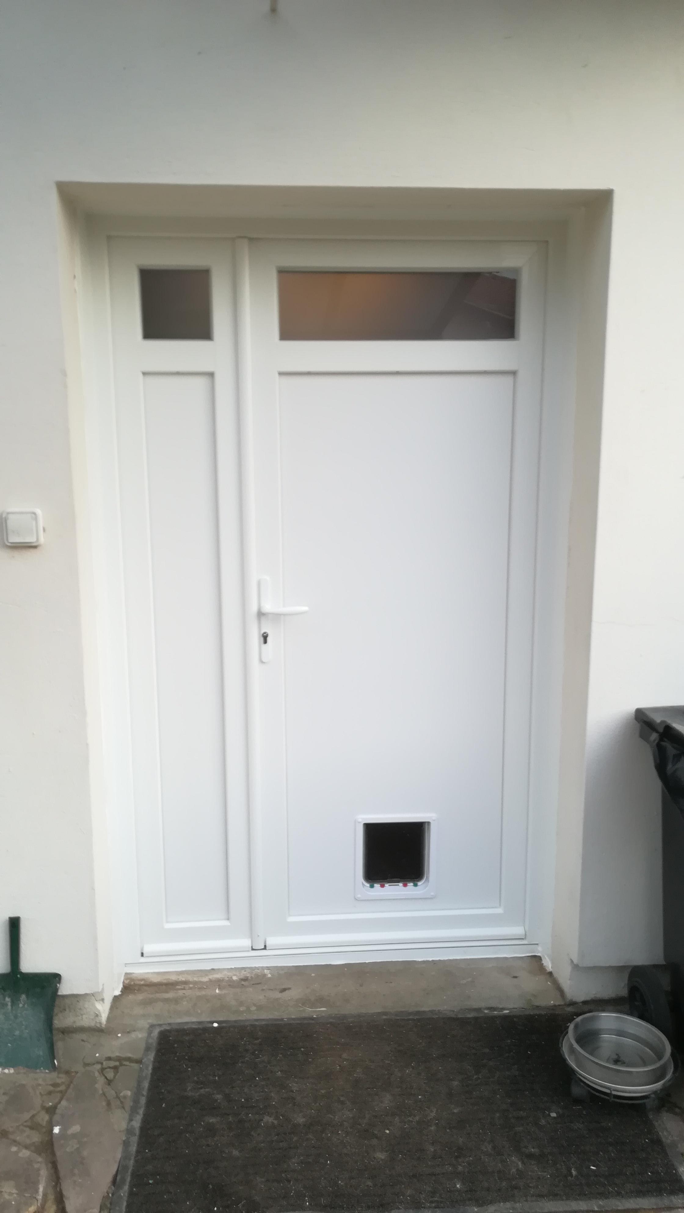 Porte de service en PVC sur ST paul Les Dax par Absolu Bois Menuiserie