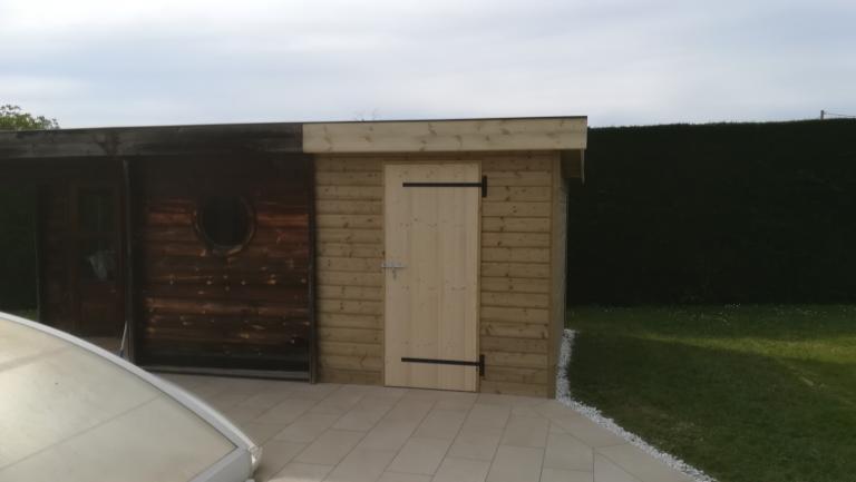 Extention d'un pool house sur Puyoo