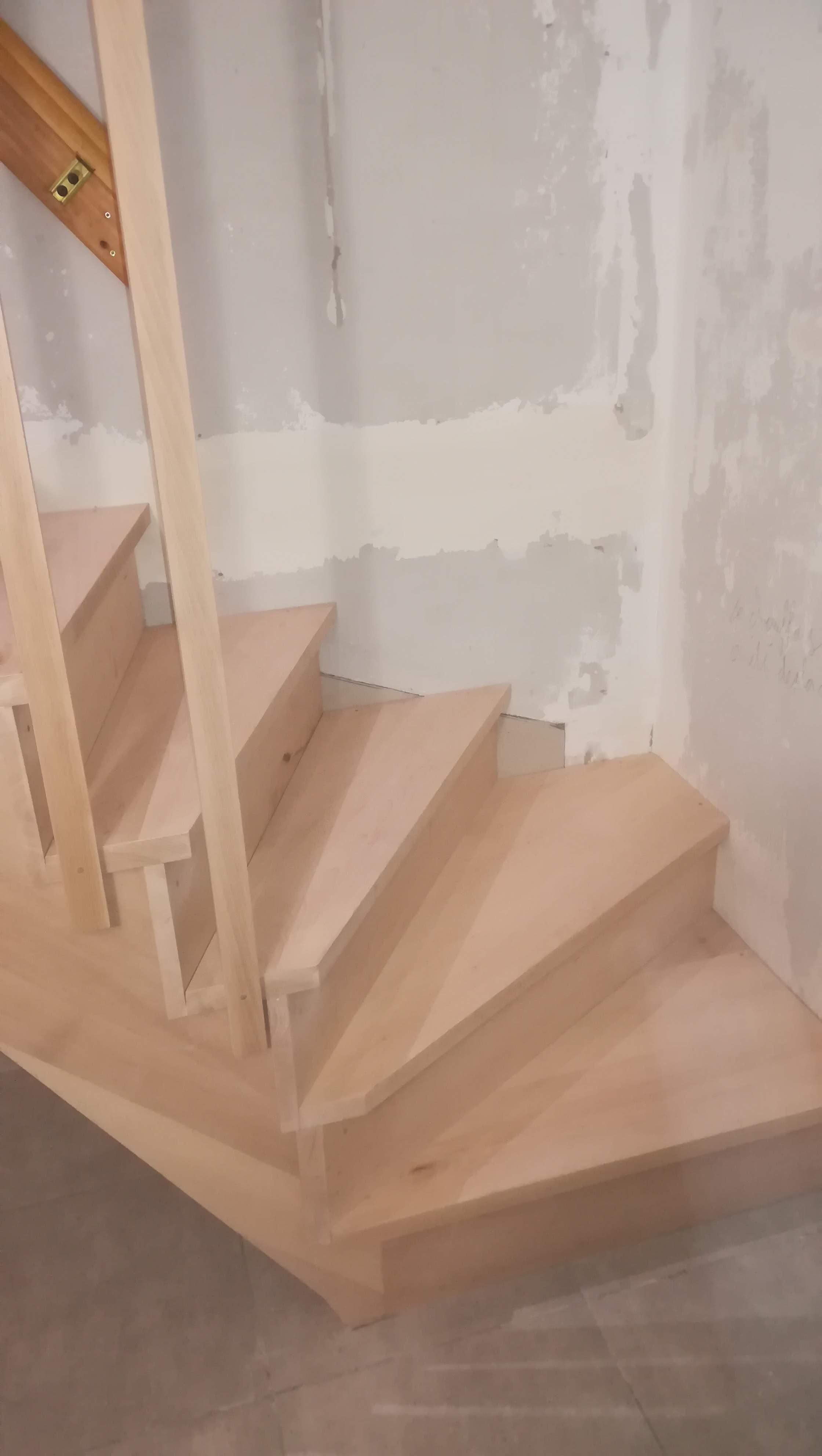 Escalier hêtre 1/4 tournant Salies De Béarn - Absolu Bois Menuiserie