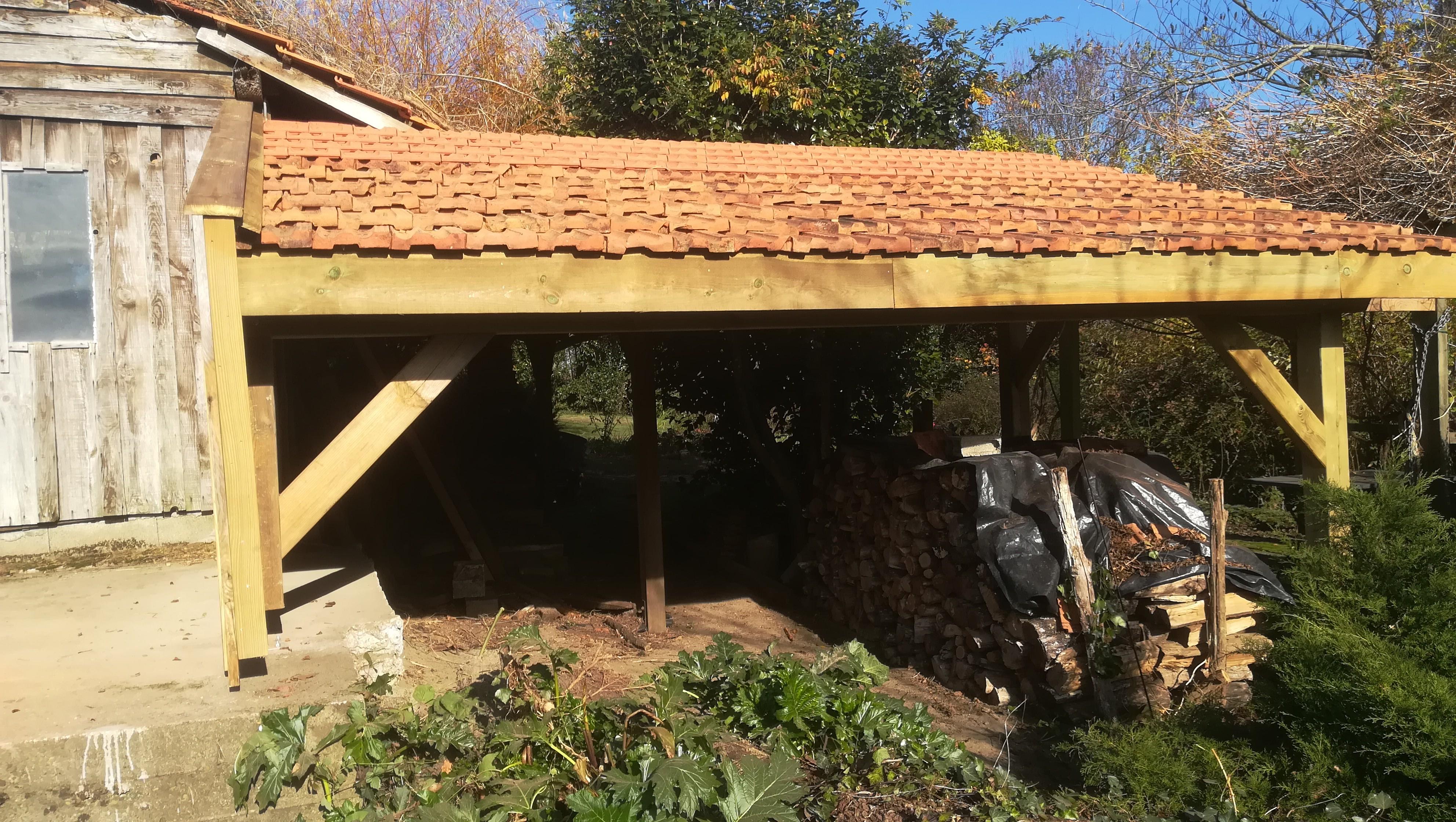 Réfection d'un abri bois sur Misson-Absolu Bois menuiserie