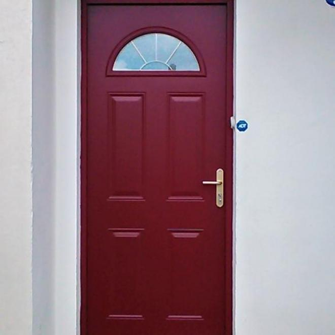 Porte d'entrée en acier de chez SWAO posée sur BORDEAUX