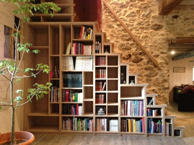 Bibliothèque Escalier en chêne